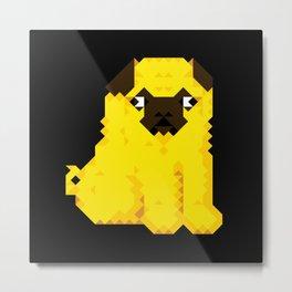 Exel Pug Metal Print