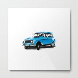 Renault 4L Metal Print