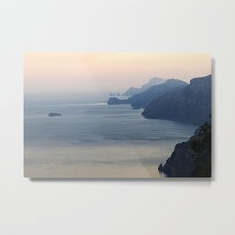 Seascape Amalfi Coast Italy Metal Print