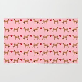 Irish Terrier dog breed love hearts pet gifts must have terriers Rug