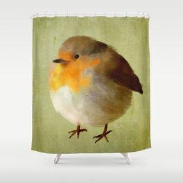 Chubby Bird Shower Curtain