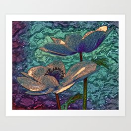 Metalic flower Art Print