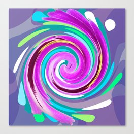Purple twirl Canvas Print