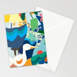 Sea Bird with Abstract Background Stationery Cards