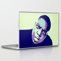 biggie smalls Laptop & iPad Skins featuring Biggie by victorygarlic