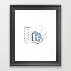 The Exploded Alphabet / D Framed Art Print