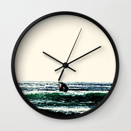 The Lone Paddler Wall Clock