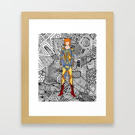 Heroes Fashion 1 Framed Art Print