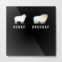 Schaf Unschaf Photography Photographer Photo Metal Print