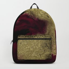 Black Honey - resin abstract painting, black and gold abstract art Backpack