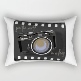 Camera Vintage: see the world in a lens Rectangular Pillow