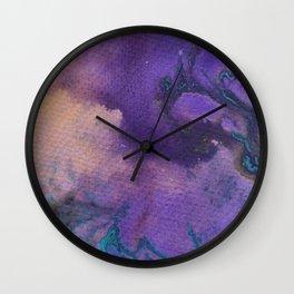 Treasures Mapped - Purple Wall Clock