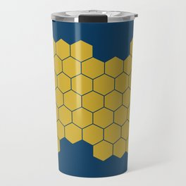 Honeycomb Blue Travel Mug