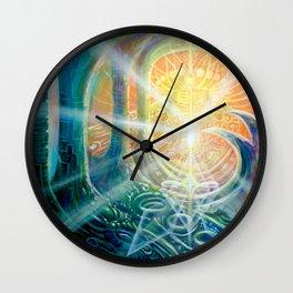 """Light Temple"" by Adam France Wall Clock"