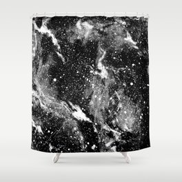 Galaxy (B/W) Shower Curtain