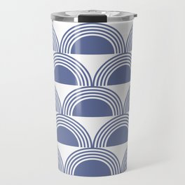 Abstract sea waves Travel Mug