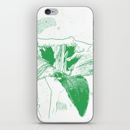 Day Lily Print in Green iPhone Skin