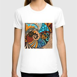 Hand-drawn ethno zentangle pattern, tribal background African sty. Beautiful, africa. T-shirt