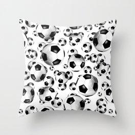 3D look soccer balls pattern Throw Pillow