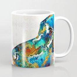 Colorful Dog Art - Loving Eyes - By Sharon Cummings Coffee Mug