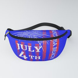 Santa Rosa Beach 4th of July Independence Day Fanny Pack