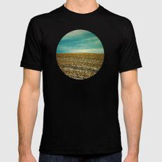 Corn Fields Mens Fitted Tee Black SMALL