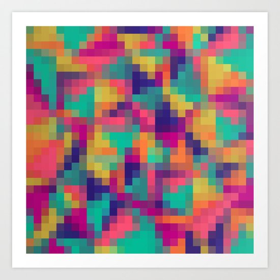 Exotic Mosaic Art Print