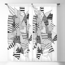 abstract crystal Blackout Curtain