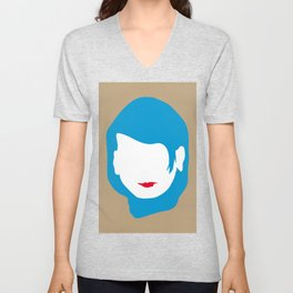 EMPTY FACES #2 Unisex V-Neck