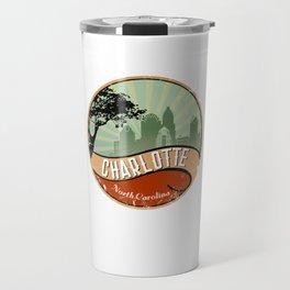 Charleston City Skyline T-Shirt Retro Vintage 80s Travel Mug