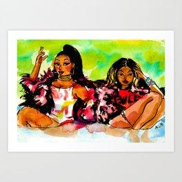 Feeling Myself Art Print