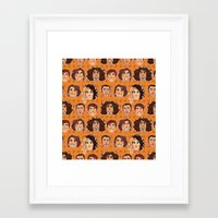 game grumps Framed Art Prints featuring Game Grumps Pattern New by SIINS