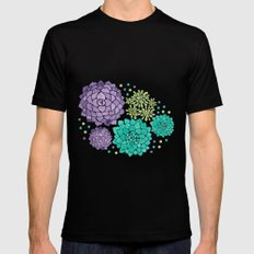 The Succulents Black MEDIUM Mens Fitted Tee