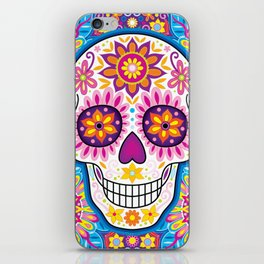 Sugar Skull Art (Inflorescent) iPhone Skin