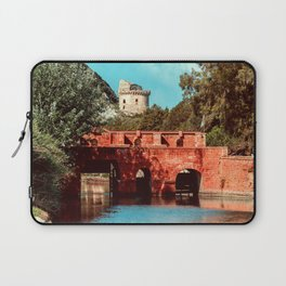 Ponte Rosso: a bridge over a canal running to the sea Laptop Sleeve