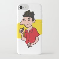 seinfeld iPhone & iPod Cases featuring kramer from seinfeld by Nick Dauphin