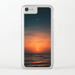 moon and sun Clear iPhone Case