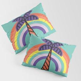 Palm Tree - Tropical minimal colorful fun memphis milano summer spring beach island rainbow 60s 70s Pillow Sham