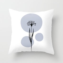 Delicate Botanicals Centaurea Cyanus Throw Pillow
