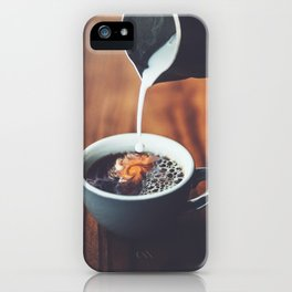 Dreams In My Coffee iPhone Case
