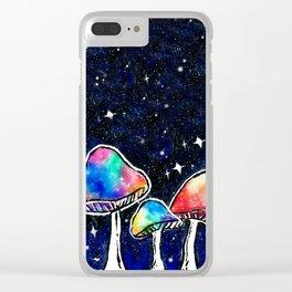 Magic Mushrooms Clear iPhone Case