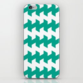 jaggered and staggered in emerald iPhone Skin