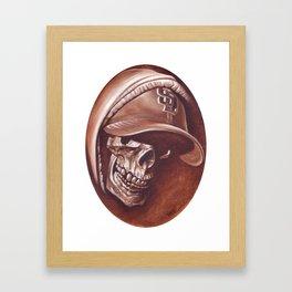 skull and cap Framed Art Print