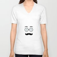 geek V-neck T-shirts featuring Geek by Nora