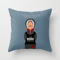 literature Throw Pillows featuring Victorian Literature - Doyle by Natallia Pavaliayeva