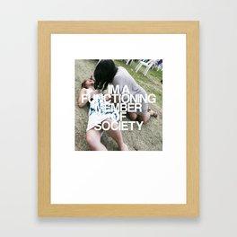 FUNCTIONING Framed Art Print