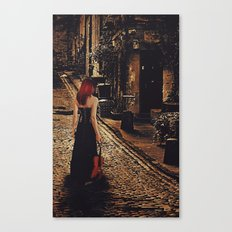 Soloist - Solitary Woman with Violin Canvas Print