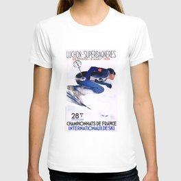 1938 Luchon Superbagneres France Ski Poster T-shirt