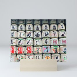 japanese barrels Mini Art Print
