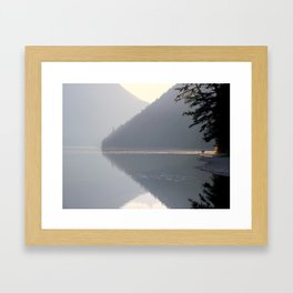 Peaceful Fisherman Framed Art Print